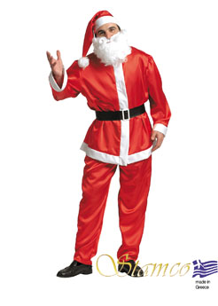 Costume Satin Santa Claus