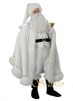 Costume White Santa Claus