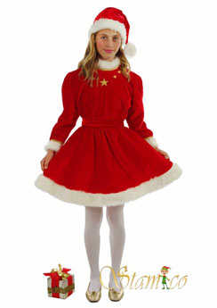 Costume Santa Girl Embroider