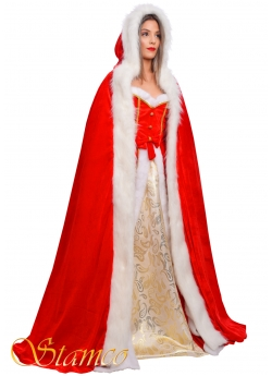 Costume Christmas Velvet Cape